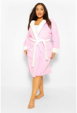 Pink Plus Unicorn Hooded Dressing Gown