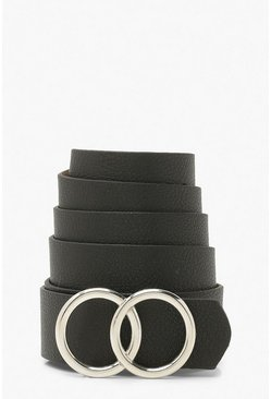 Silver Plus Double Ring Boyfriend Belt
