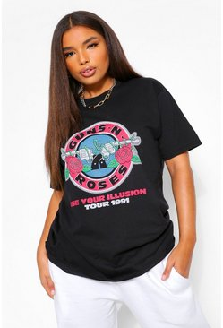 Black Plus Guns and Roses Licence Tour T-Shirt