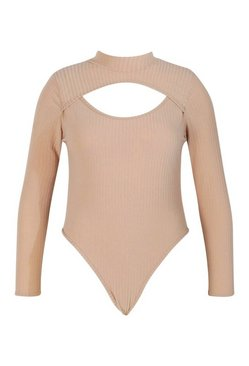 Stone Plus Soft Rib Cut Out Bodysuit