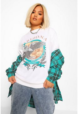 White Petite 'Arizona' Sweatshirt