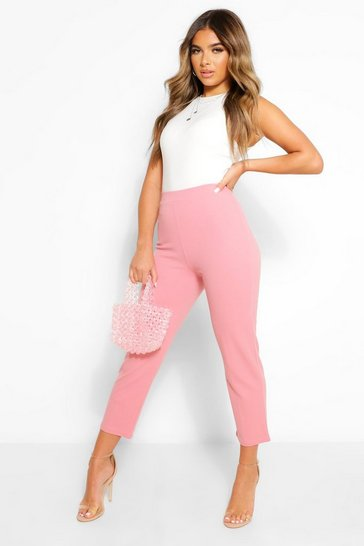 Blush pink Petite Tailored Trousers