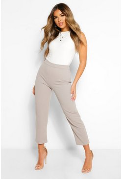 Grey Petite Tailored Trousers