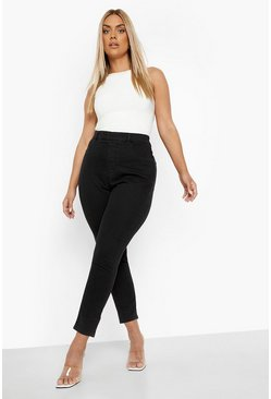 Plus High Rise Jegging, Black negro