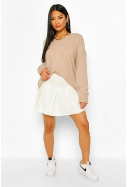 White Petite Pleated Tennis Skirt
