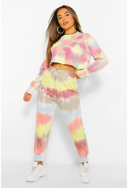 Multi Petite Colourful Tie Dye Joggers