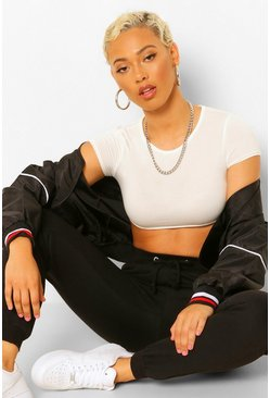 Blackwhite black Petite 2 Pack Crop T-Shirt