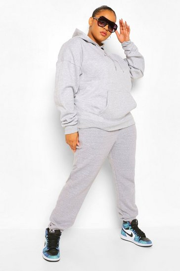 Grey Plus Basic Jogger
