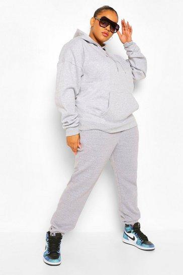 Grey Plus Basic Joggers