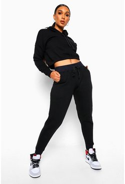 Black Hoodie En Joggingbroek Set