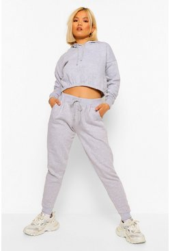 Grey Hoodie En Joggingbroek Set