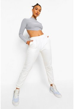 Ecru white Basic Joggers
