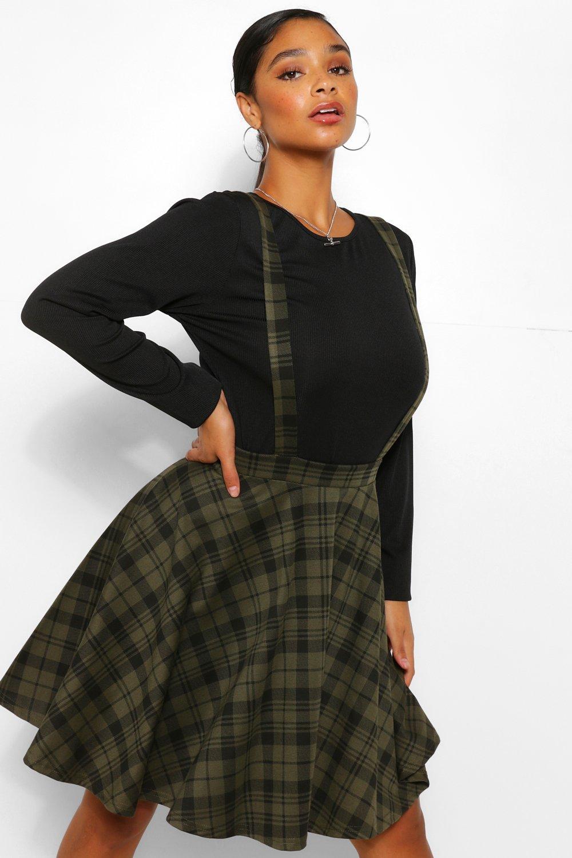 Plus Check Pinafore Skirt 17