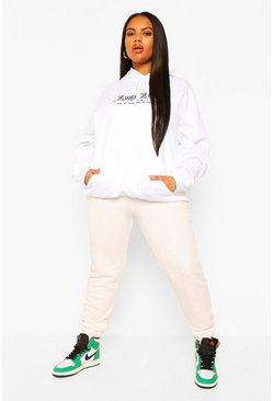 Ecru white Plus Basic Jogger
