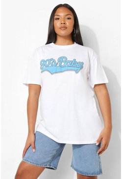 White Plus 90's Baby T-Shirt
