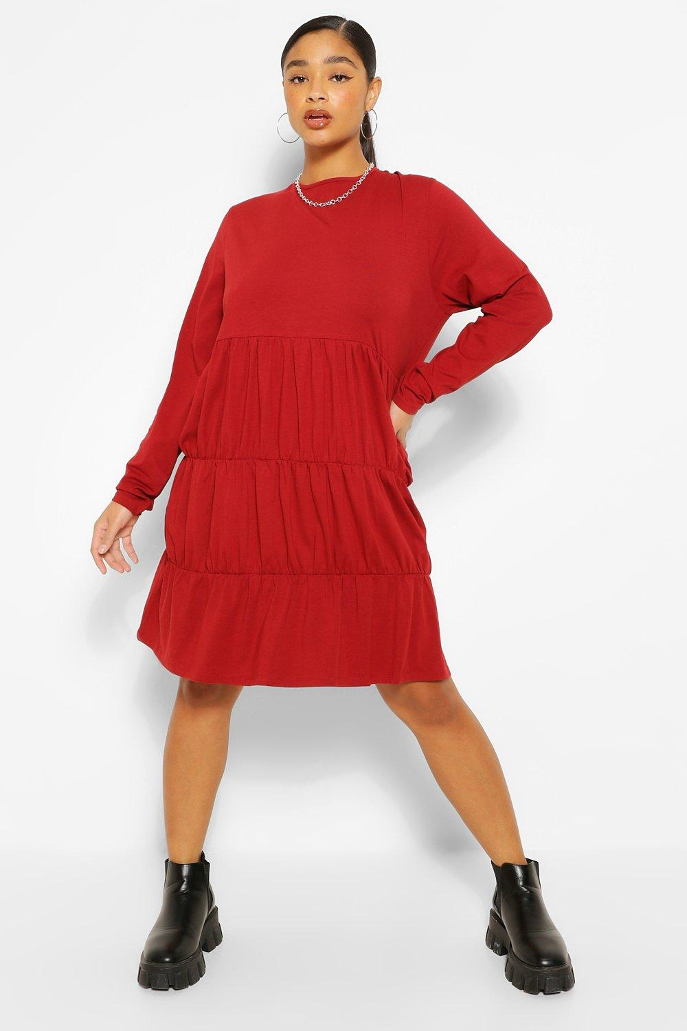 Plus Tiered Jersey Smock Dress 8
