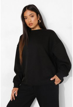 Black Petite Oversized Sweater