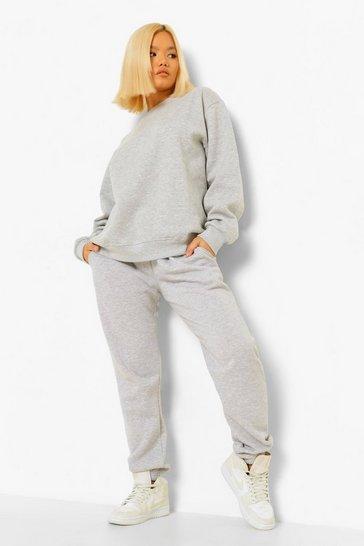 Grey Petite Oversized Sweater