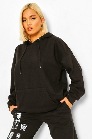 Black Petite Oversized Hoodie