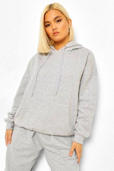 Grey Petite Oversized Hoodie