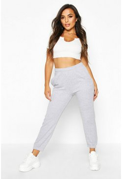 Grey Petite Basic Joggingbroek Met Elastische Zoom
