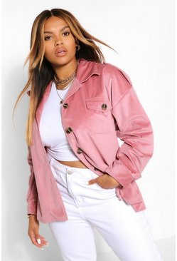 Rose pink Jumbo Cord Oversized Jacket