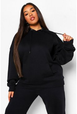 Black Plus Basic Oversized Hoody