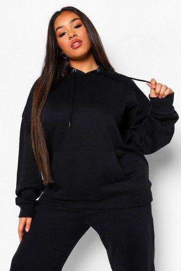 Black Plus Basic Oversized Hoodie