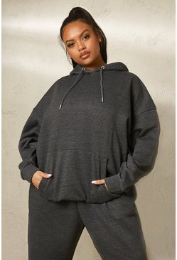 Charcoal grå Plus - Basic Oversize hoodie