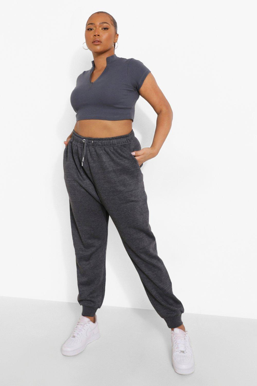 Plus Basic Cuffed Hem Jogger 16