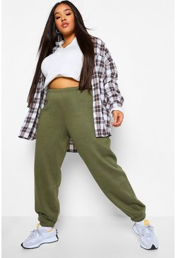 Khaki Plus Basic Cuffed Hem Jogger