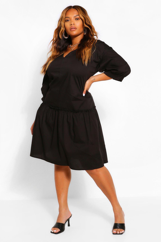 Ruffle Hem Smock Midi Dress 8