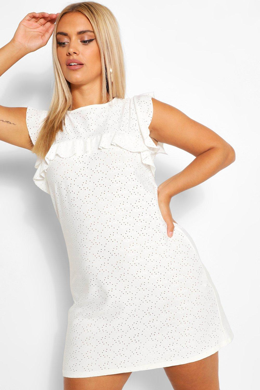 Plus Broderie Ruffle Shift Dress 7