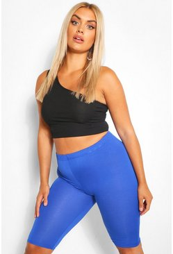 Cobalt blue Plus Jersey Longline Cycle Short