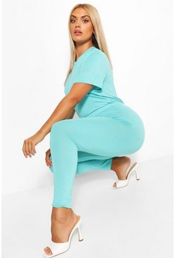 Aqua Plus Jersey T-Shirt + Legging Co-Ord