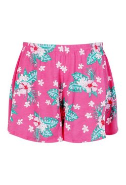 Pink Plus Floral Flippy Beach Short