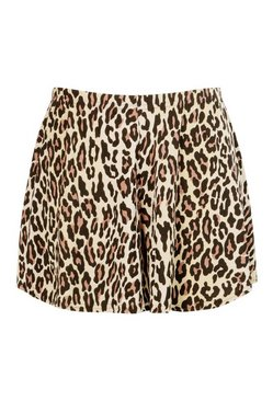 Brown Plus Leopard Flippy Beach Short