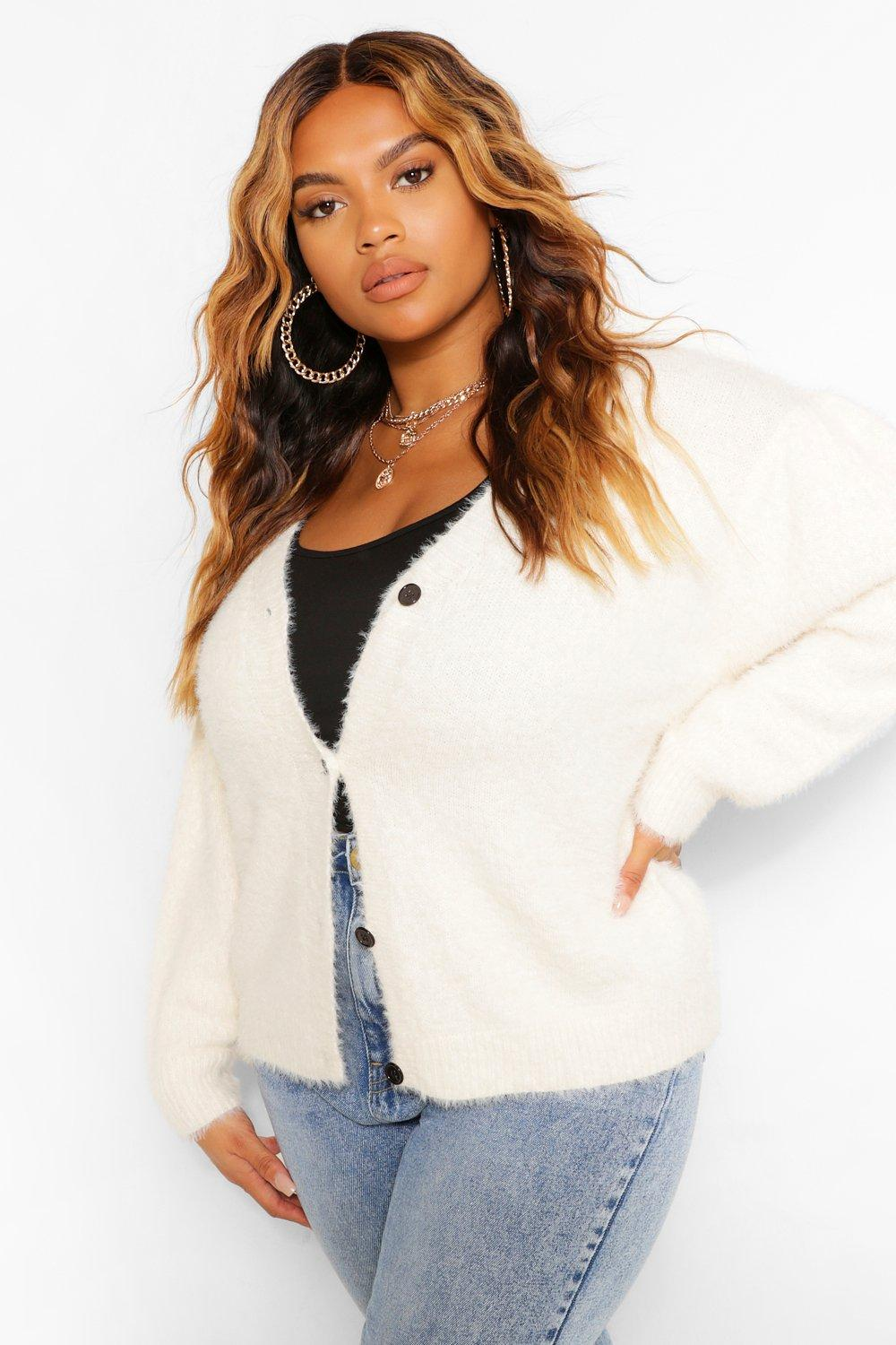 Plus Premium Puff Shoulder Cardigan 8
