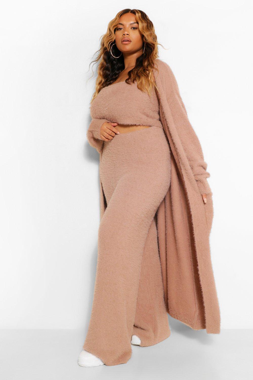 Plus Premium Soft Knit Maxi Cardigan 18