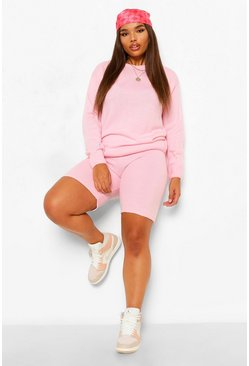 Pink Plus Jumper and short Lounge Set