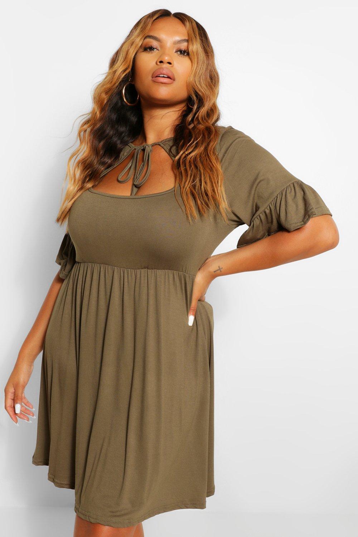 Plus Paisley Printed Shirt Dress 7