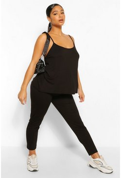 Black Plus Swing Cami and Legging Set