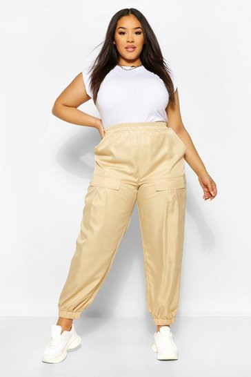 Stone beige Plus Pocket Front Cargo Trouser