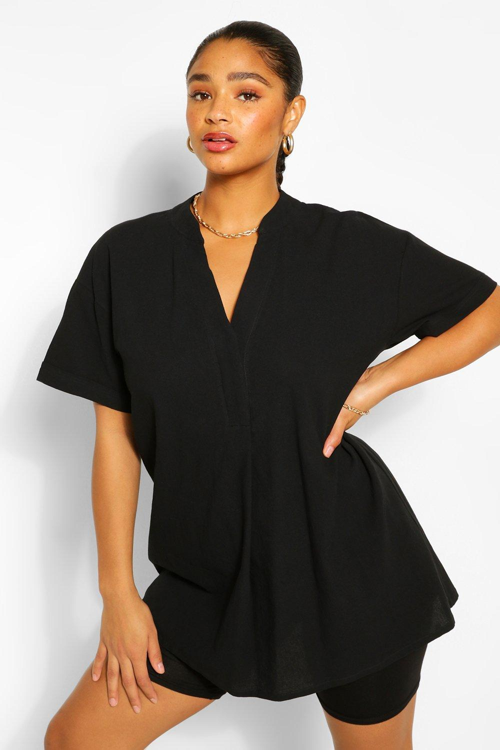 Plus Longline Tunic Blouse 8