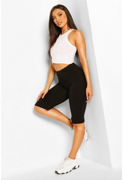 Black Petite Basic Two Pack Cycle Short & Legging