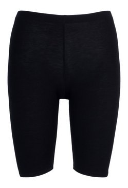 Black Petite Basic Cycle Short