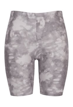Grey Plus Tie Dye Cycling Shorts