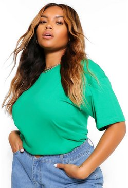 Green Plus Basic Crew Neck T-Shirt