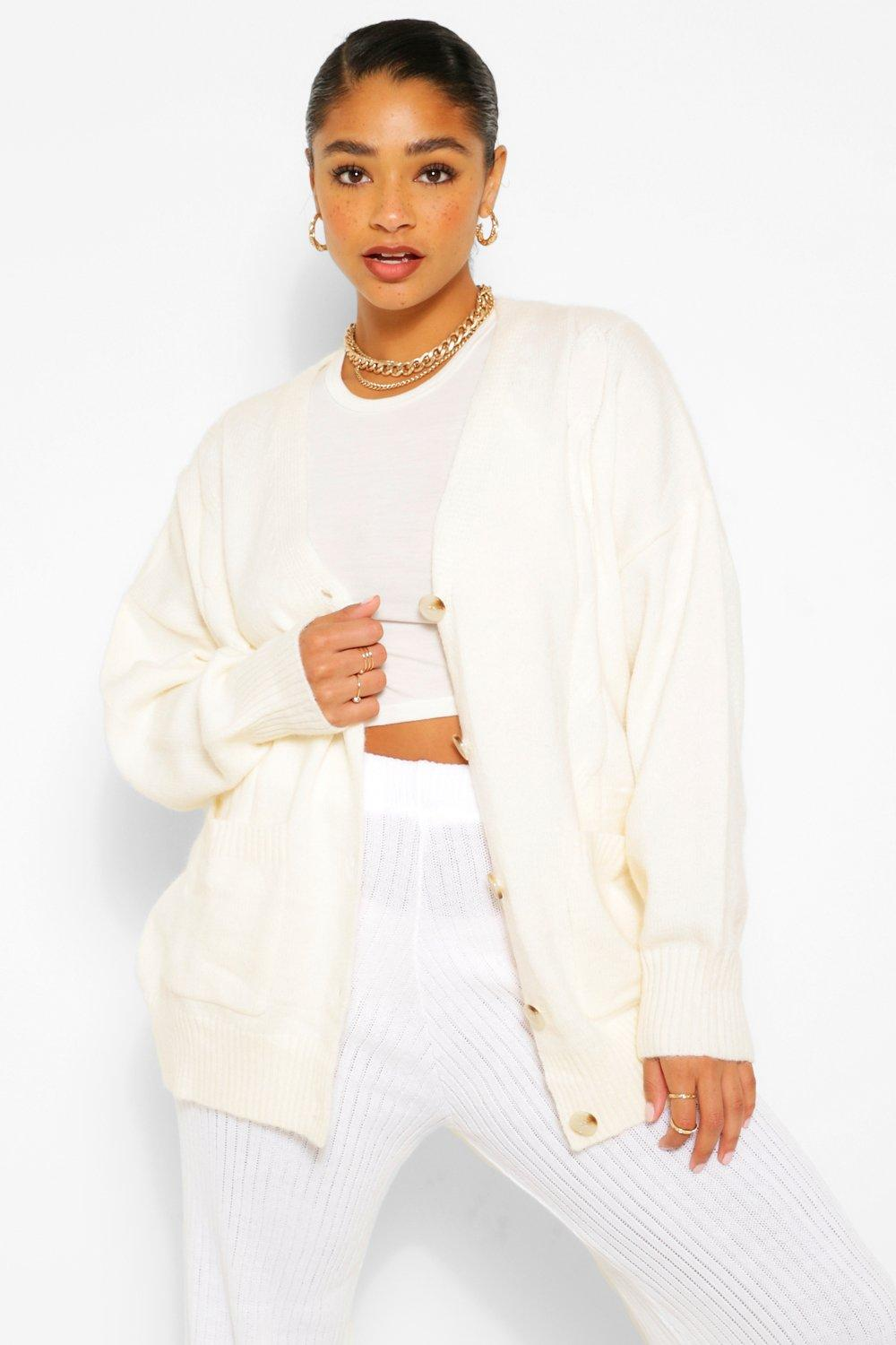 Plus Textured Cable Oversized Cardigan 6