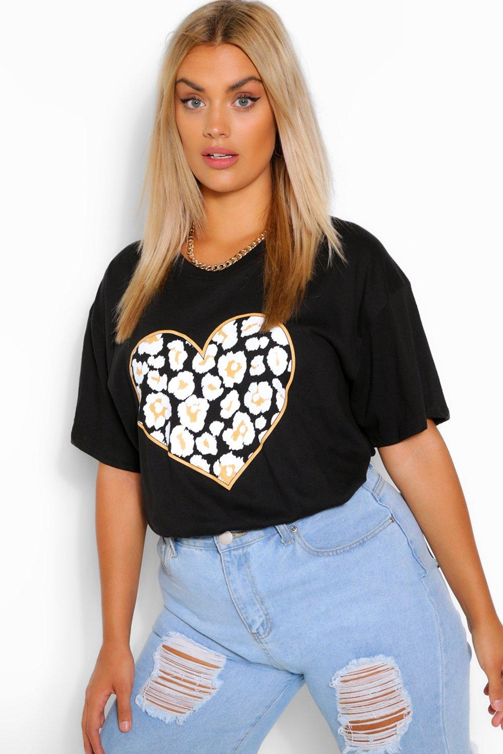 Plus Heart Leopard T-Shirt 4